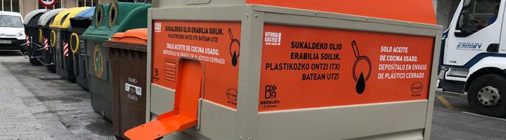 Vitoria-Gasteiz estrena el servicio de recogida de aceite vegetal con la aspiración de triplicar el reciclaje de este producto