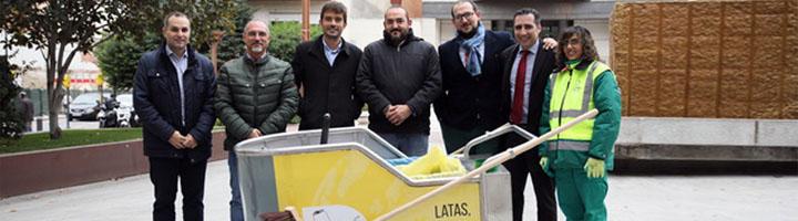 Getafe incorpora al servicio de limpieza un carro de recogida de residuos con separación de envases, papel y cartón