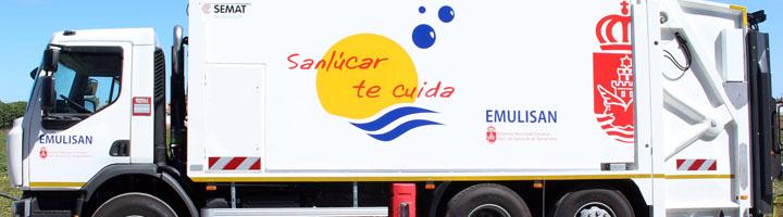 Emulisan cuenta con un nuevo camión para la recogida de residuos en San Lucar de Barrameda