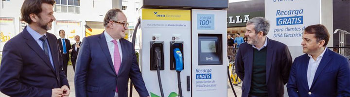 Grupo DISA inaugura la primera Electrolinera en el restaurante Rodilla de Santa Cruz de Tenerife
