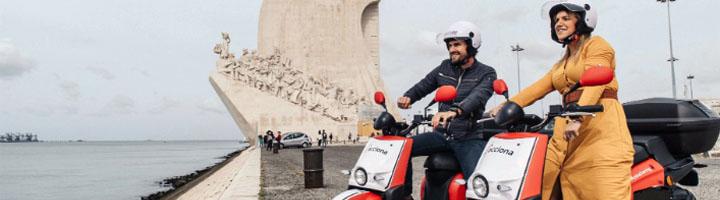 ACCIONA arranca en Lisboa su servicio de motos compartidas