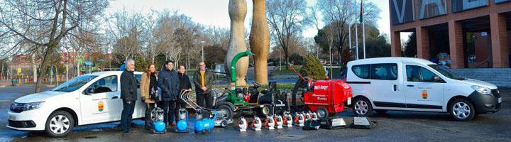 Alcorcón cuenta con dos nuevos vehículos y nueva maquinaria para el servicio de mantenimiento de parques y jardines