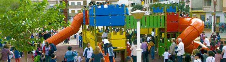 Almussafes inaugura la nueva zona infantil del parque Central