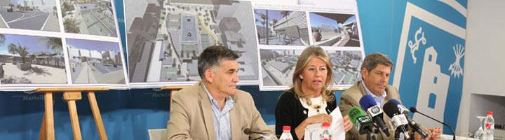 La plaza pública e instalaciones deportivas sobre el aparcamiento del Francisco Norte de Marbella