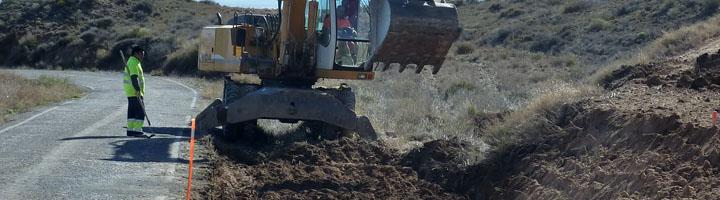 La Diputación de Zaragoza comienza los arreglos de la carretera que une Valmadrid y la Puebla de Albortón