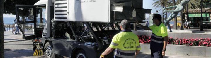 Marbella sumará 23 vehículos de limpieza y recogida de residuos mediante un modelo de renting
