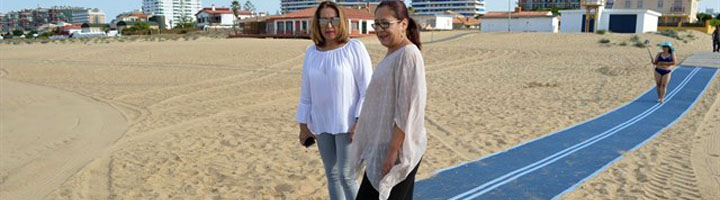 La Playa de Punta Umbría cuenta con dos nuevas zonas completamente accesibles para personas con movilidad reducida