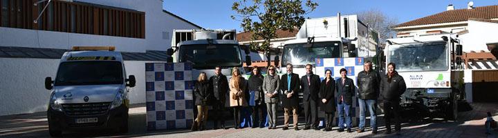 Brunete presenta un novedoso sistema de recogida lateral de residuos, la nueva maquinaria de limpieza viaria y el Punto Limpio