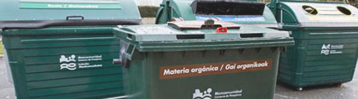 Comienza la recogida de materia orgánica con el quinto contenedor en San Juan y Echavacoiz