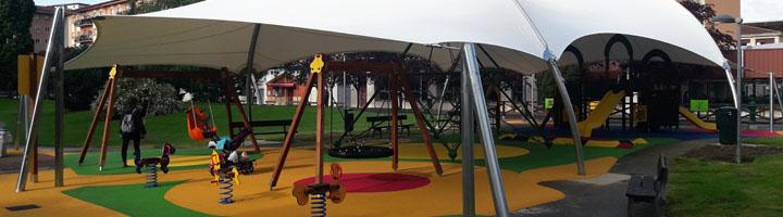 Ansoáin abre el nuevo parque infantil cubierto en Zelaia