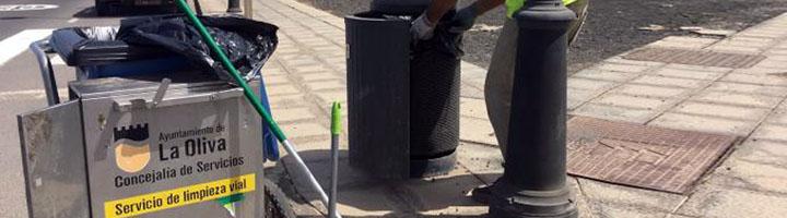 La Oliva aprueba la licitación de los contratos de limpieza y mantenimiento de zonas verdes, con una inversión de 2,3 millones
