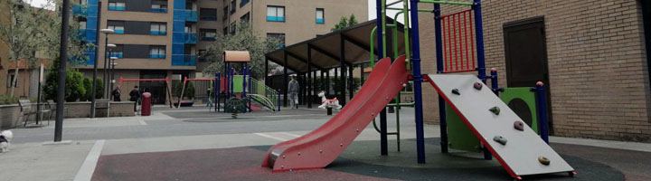 Barakaldo invertirá 214.000 euros en cubrir el parque infantil de la plaza Santiago Herrero, en Lutxana