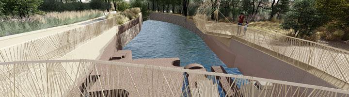 Murcia convertirá el Molino de la Pólvora y su entorno en un atractivo paraje con la construcción de un mirador-escenario sobre la Aljufía