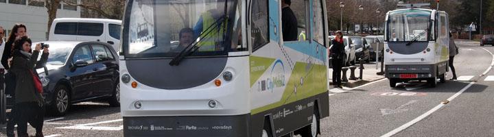 El primer servicio de transporte con autobuses automatizados comienza a rodar en el Parque Científico y Tecnológico de Gipuzkoa