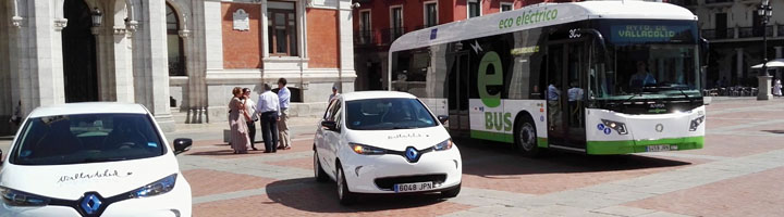 Dos nuevos autobuses híbridos y dos coches eléctricos refuerzan la flota municipal de Valladolid