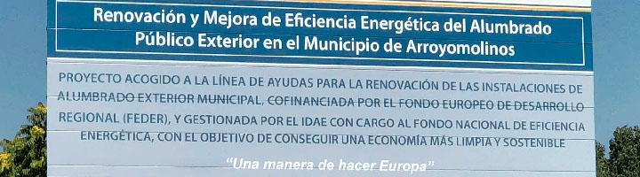 Arroyomolinos comienza la instalación de luminarias LED en todo el alumbrado público del municipio