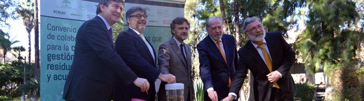 ERP firma un convenio con la Junta de Andalucía para avanzar en la gestión de pilas y acumuladores