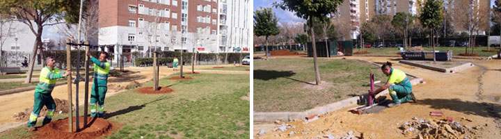 Sevilla comienza las obras de mejora del Parque Gran Vía