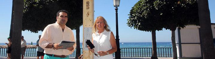 Marbella pone en marcha dos proyectos pilotos para conectar por wifi las playas y paseos marítimos del municipio