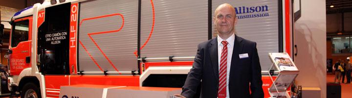 Nuevo vehículo de bomberos MAN TGM equipado con transmisión automática Allison en SICUR 2016