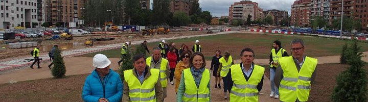 El nuevo parque sobre el soterramiento de la Estación de Tren de Logroño estará terminado en verano