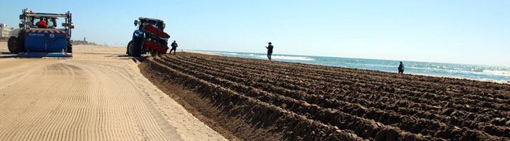 Comienza el acondicionamiento de las playas del Area Metropolitana de Barcelona