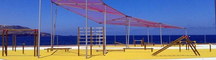 El Parque Litoral El Rincón ofrece más de 13.200 m² para usos deportivos y biosaludables junto al Paseo de Las Canteras