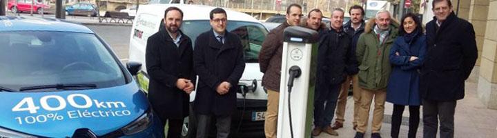 El Gobierno de La Rioja apoya la puesta en marcha del primer punto de recarga para vehículos eléctricos en Nájera