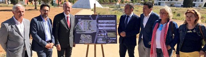 La Diputación de Málaga financia con 675.000 euros la creación de un jardín mediterráneo y una plaza en el parque de San Rafael