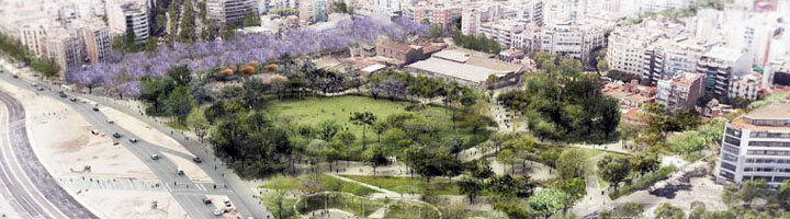 Barcelona reanuda las obras del futuro parque de las Glóries