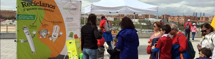 AMBILAMP promueve el reciclaje de lámparas en el Día del Niño Atlético en Madrid