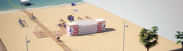 San Fernando avanza para contar este verano con un acceso 5 estrellas en la playa de Camposoto
