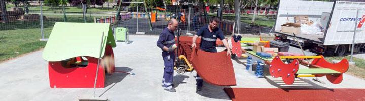 Zaragoza comienza la instalación de ocho zonas de juego infantil adaptadas para discapacitados