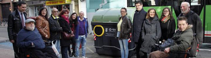 Getafe inicia la instalación de contenedores adaptados para personas con movilidad reducida