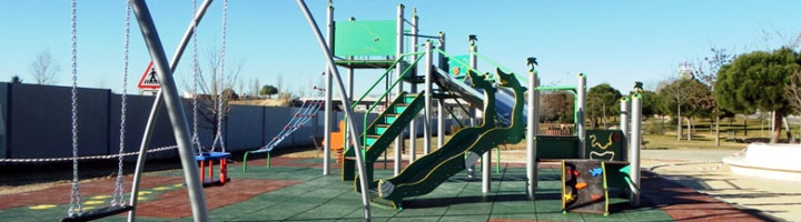 El parque Goya de Majadahonda estrena una nueva zona de juegos infantiles