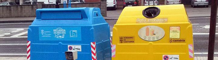 Bárcena de Cicero cuenta ya con contenedores para la recogida selectiva de envases ligeros y papel/cartón