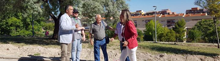 Jaén informa de la instalación de riego en el Parque de Santi Rodríguez de la capital