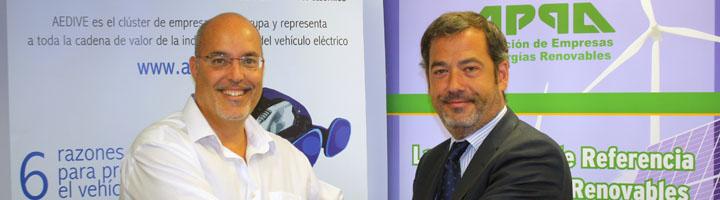 APPA Renovables y AEDIVE  firman un acuerdo de colaboración para impulsar el  vehículo eléctrico sostenible