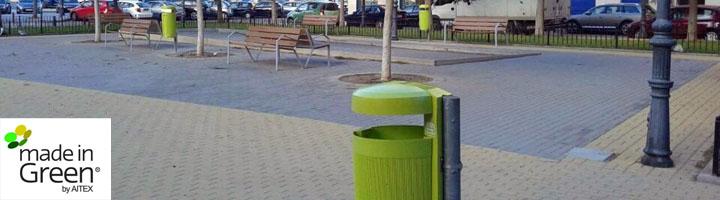 Valencia continua la instalación de papeleras fabricadas con materiales ecológicos