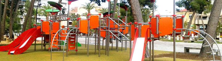 Alicante completa la primera fase del programa de renovación de parques infantiles
