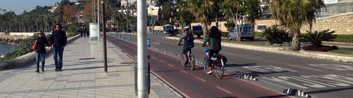Más bicicleta y carriles bus para reducir el ruido en Málaga son algunas de las propuestas derivadas del mapa de ruido de la ciudad