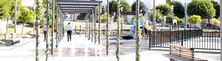 El Parque de Palma Burgos luce remodelado con nuevos espacios y la primera fuente en superficie en Úbeda