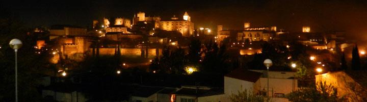 Cáceres inaugura una nueva iluminación artística de la ciudad monumental