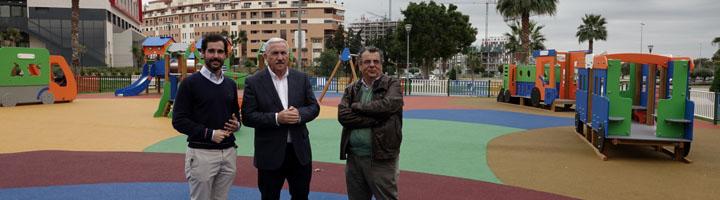 Málaga invierte 5,2 millones de euros en la construcción o reforma de parques infantiles desde 2015