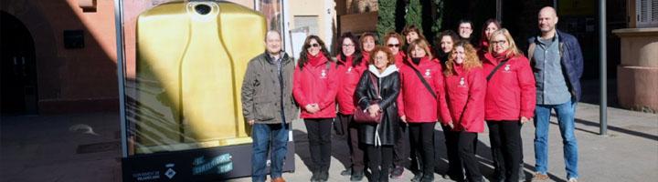 Viladecans gana el Contenidor d'Or del mes de Diciembre por su alta tasa de reciclaje de vidrio