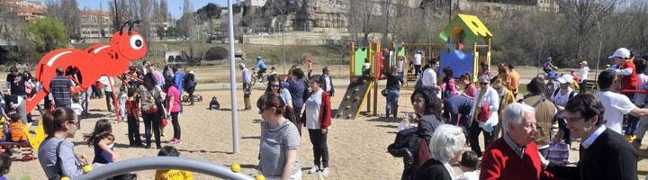 Salamanca cuenta con un nuevo parque de 28.000 metros cuadrados junto al río con zonas de ocio para toda la familia