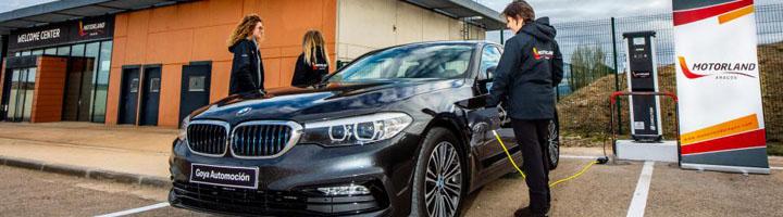 MotorLand inaugura tres puntos de recarga para vehículos eléctricos en sus instalaciones