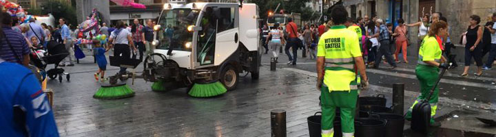 El nuevo contrato de limpieza de Vitoria permitirá dar un salto de calidad en el servicio y aumentar la tasa de reciclaje