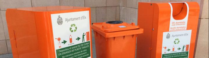 Elche instala contenedores de recogida selectiva de aceite doméstico en el casco urbano y las pedanías