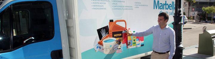 Marbella pone en funcionamiento dos nuevos puntos limpios móviles para depositar residuos especiales